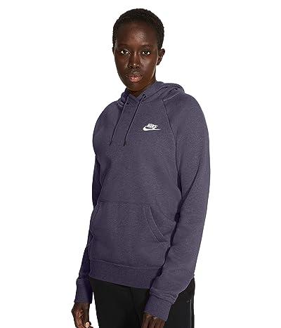 Nike NSW Essential Hoodie Pullover Fleece (Dark Raisin/Heather/White) Women