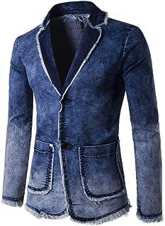 [シスーン] デニムジャケット メンズ Gジャン ウォッシュ加工 アウター 春 秋 デニム ジャケット ジージャン 大きい