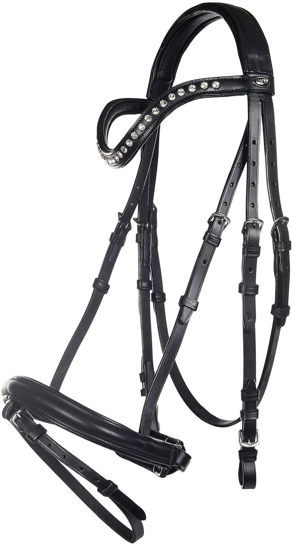 Hkm Hkm 4057052255755 Horse Bridle Anouk9100 Blackthgoldughbred