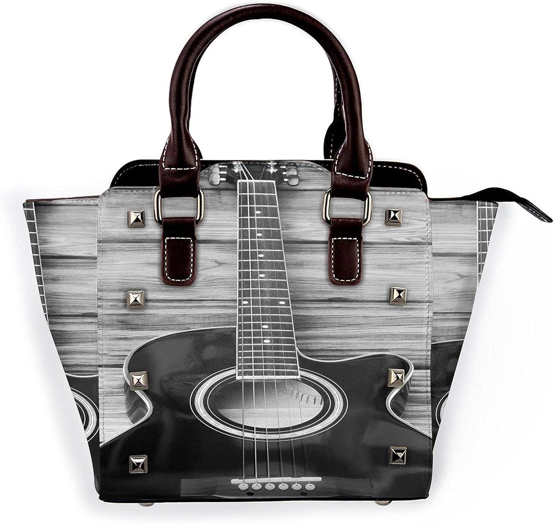 Ladies Leather Rivet Shoulder Guitarhandbag Low price Multi-F Bag Vintage San Diego Mall