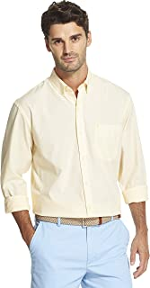 Men's Slim Fit Button Down Long Sleeve Stretch Performance Solid Shirt