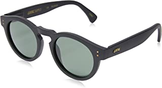 Local Supply Men's FREEWAY Polarized Sunglasses - Dark Green Tint Lens, Matte Black Frames