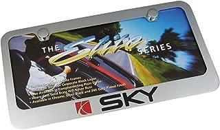 Saturn Sky Chrome Brass License Plate Frame