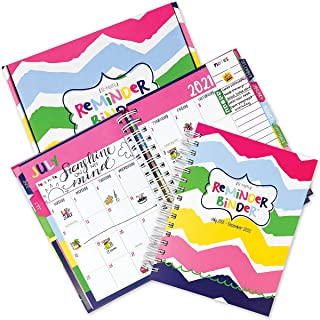 $39 » Made in the USA Reminder Binder 2021-2022 18-Month Planner + 361 Planner Stickers | Weekly & Monthly Views | Hard Cover | ...