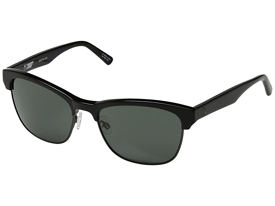Spy Optic Loma (Black/Matte Gunmetal/Happy Gray Green) Sport Sunglasses
