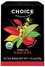 Choice Organics – Organic Rooibos Tea (6 Pack) – Organic Herbal Tea – 96 Tea Bags