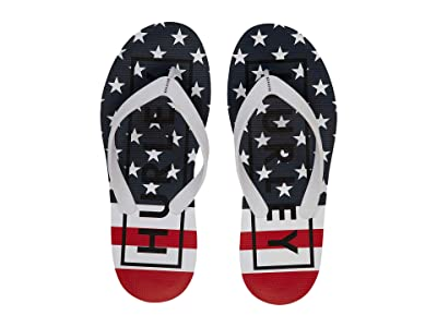 Hurley One Only Printed Sandals (White/Gym Red) Men