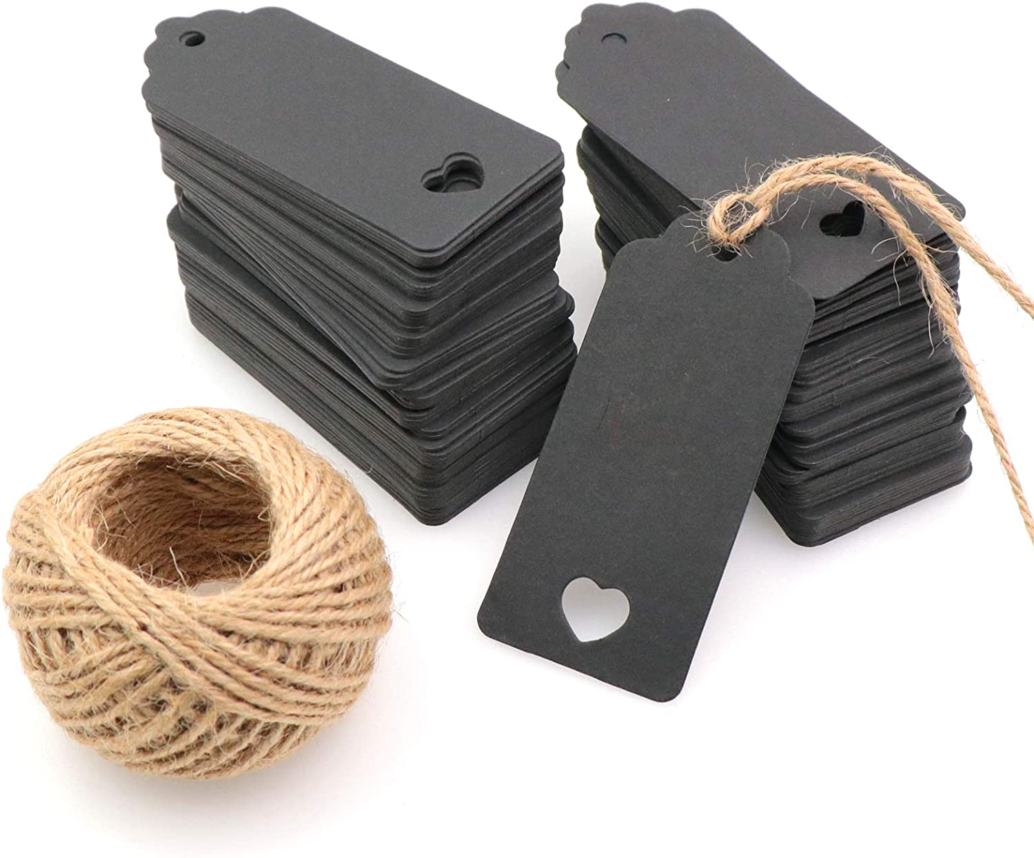 Waycreat Limited time for free shipping 200pcs Black Kraft Gift Nat with Labels Max 80% OFF Price Tags