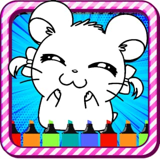 Kawaii Hamsters Coloring Pages