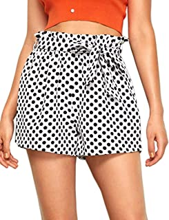 Romwe Women's Casual Elastic Waist Summer Shorts Jersey Walking Shorts
