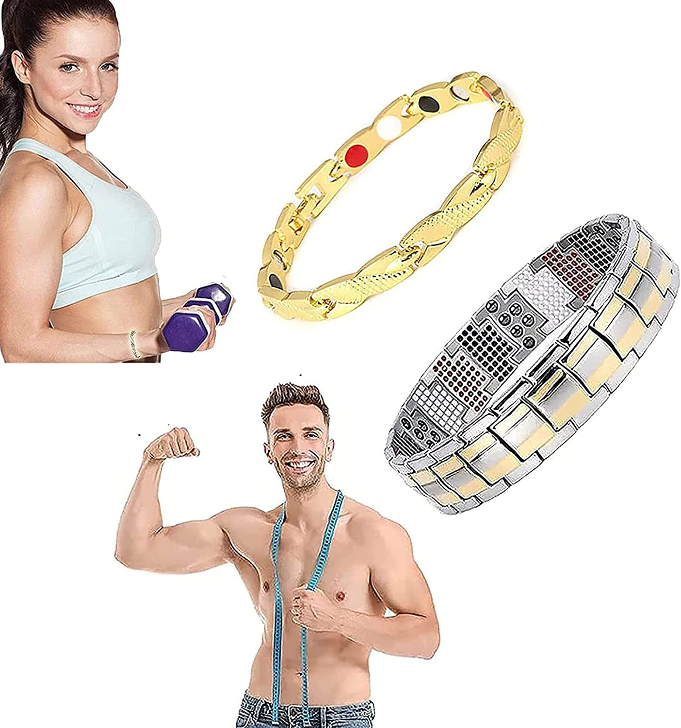 2Pcs Magnetotherapy Fit Plus Bracelet Ultra T Magnetic Strength Super sale New item period limited