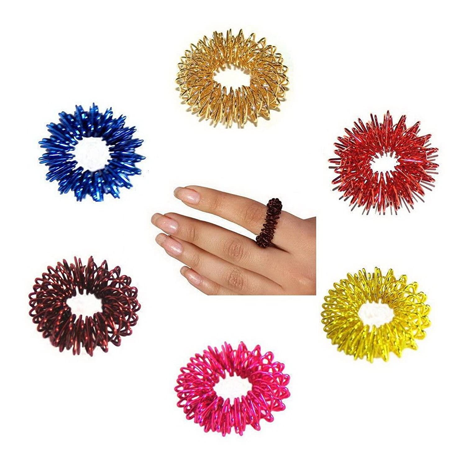 故障ピューキロメートルBuycrafty 10 Pcs Acupressure Rings Massage Ring Massager relaxology, BEST High Density Deep Tissue Acupressure