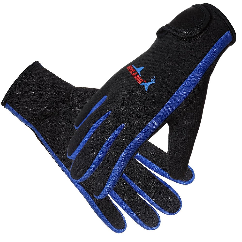Docooler 1.5mm ダイビンググローブ プレミアム ネオプレン 手袋 ファイブフィンガーグローブ スキューバ ダイビング サーフィン 男女兼用