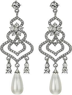 Chandelier Earrings w/ Pearl Drop