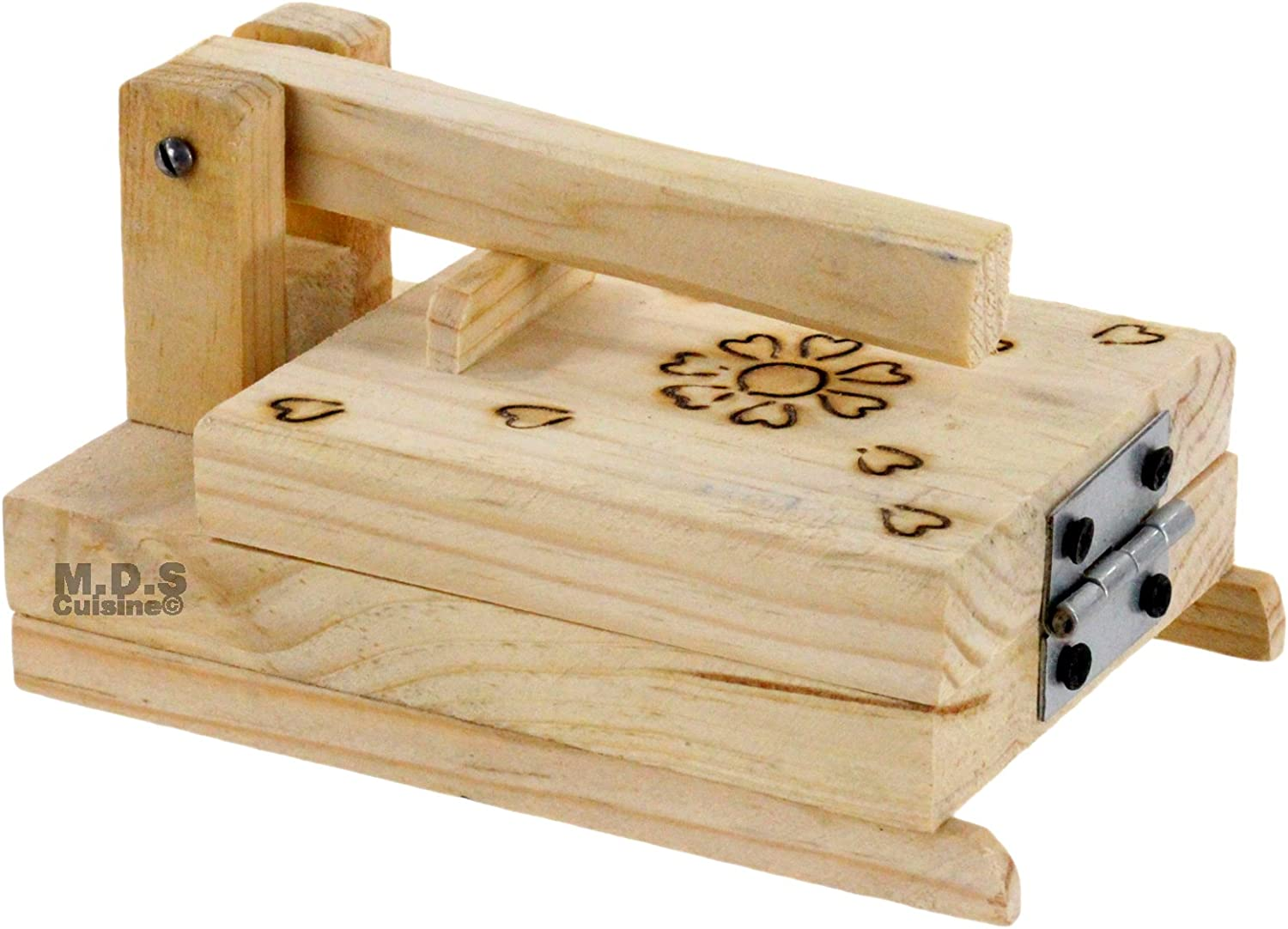 Tortilla Mail order cheap Press Mini Outlet sale feature 4.5 Authentic Wood Inch Traditional