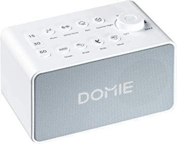 Domie White Noise Machine with Rechargeable 8 Sound Modes