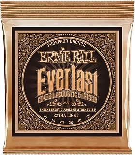 Ernie Ball P02550 Everlast Extra Light Coated Phosphor Bronze Acoustic Guitar String, 10-50 Gauge, Extra Light