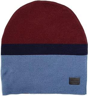 Unisex Burgundy Blue Wool Beanie Hat 353999 6068