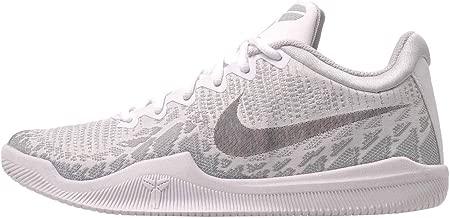 Nike Men's Kobe Mamba Rage Basketball Shoes (12, White/Black/Pure Platinum)