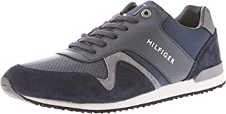 Tommy Hilfiger Men's Iconic Leather Textile Runners