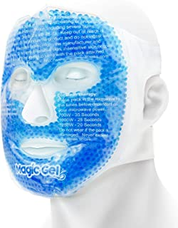 Luxury Face Cold Mask - Ice Cold Gel Pack with a Soft Cotton Backing. Premium Quality Cooling Face Ice Pack for Better Sleep, Puffy Eyes and Improved Skin (from Magic Gel)