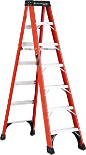 Louisville Ladder 7-Foot Fiberglass Step Ladder, 375-Pound Capacity, FS1407HD