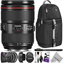 Canon EF 24-105mm f/4L is II USM Lens with Altura Photo Essential Accessory and Travel Bundle