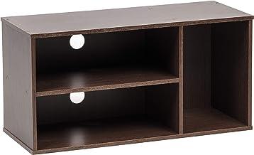 Amazon Marque - Movian Meuble TV avec 3 niches ouvertes pour écran 28 pouces - Module Wood Shelf MDB-3S - Chêne brun, L73,...