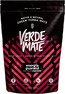 Verde Mate Green Energía 500g | Yerba Mate Green Con Guarana | Yerba Mate Té de Brasil | Alta Calidad | Yerba Mate Fuertemente Estimulante | Sin gluten | Sin humo