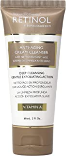 Retinol Cream Cleanser Anti-Aging – 2oz – Daily Deep Cleansing Facial Wash Improves Skin Texture, Moisturizes, And Exfolia...