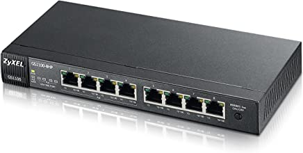 ZyXel 8-Port GbE PoE+ Unmanaged Switch (GS1100-8HP)