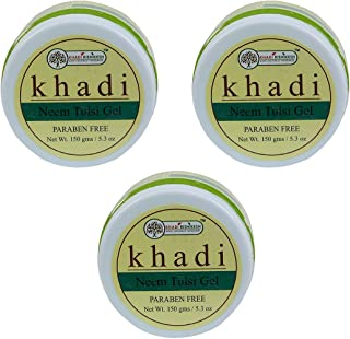 Khadi Rishikesh Herbal Neem Tulsi Gel Combo Set Pack Of 3 x 150 gm (450 gm)