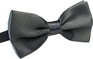 598c63688c65 Men's Pre Tied Bow Ties for Wedding Party Fancy Plain Adjustable Bowties  Necktie