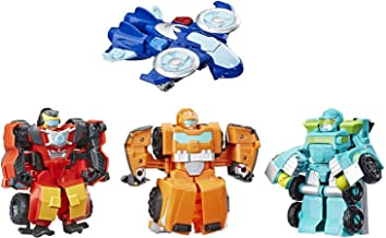 Playskool Heroes Transformers Rescue Bots Academy Rescue Team Pack, 4 Collectible 4.5