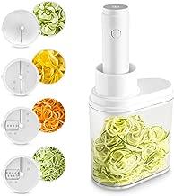 Cortador de verdura electrico en espiral, Cortador de verduras y frutas, Espiralizador vegetal, Mandolina verduras frutas, Máquina espagueti pasta de verdura
