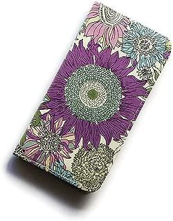 iPhone 7sケース iPhone 8sケース 手帳型 リバティ スモールスザンナ(パープル)おしゃれ かわいい 花柄 磁石不使用でカード安全