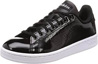 Adidas Advantage Faux Leather Side Perforated Logo Heel Tab Tennis Shoes for Women 40 2/3