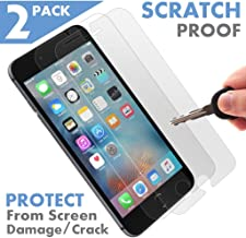 ⚡[2 Pack] [ Premium ] Apple iPhone 7 Tempered Glass Screen Protector - Shield, Guard & Protect from Crash & Scratch - Anti Smudge, Fingerprint Resistant & Shatter Proof - Best Front Cover Protection