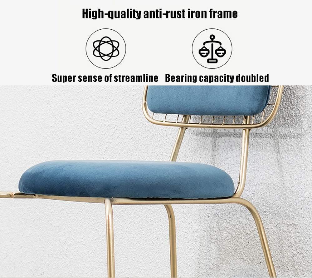 Chaise de salle, Chaise Chaise Lounge Café Conférence Président Accueil Coin Booster Chaise tapissée Chaise de réception (Color : Blue) Blue