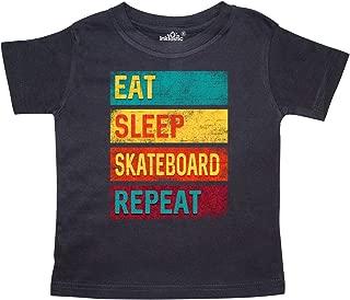 Skateboarding Eat Sleep Skateboard Repeat Toddler T-Shirt
