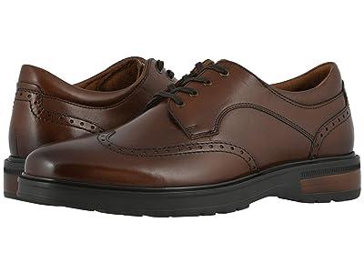 Florsheim Astor Wing Tip Oxford (Cognac Smooth/Brown Sole) Men