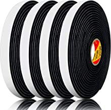 4 Pack Thin Foam Tape, Weather Stripping for Doors, Seal Weather Stripping Tape(Single:1/16 Inch Thick X 1/2 Inch Wide X 16.5 Foot X4 Pack)