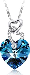 Best blue heart crystal necklace Reviews