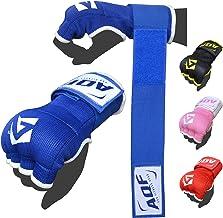 AQF Bokshandschoenen Hand Wraps Vuist Gevoerde Bandages MMA Gel Strap Mitts Kick Zwart, Blauw & Rood