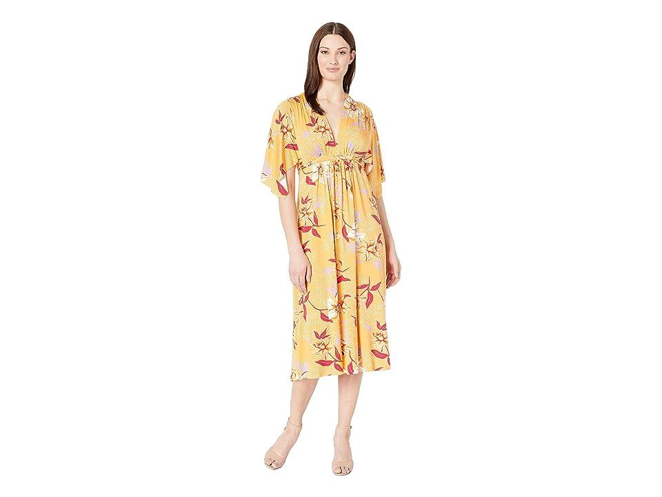 Rachel Pally Mid Length Caftan Dress (Daffodil Print) Women