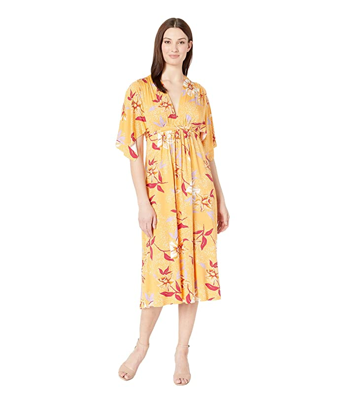 Rachel Pally Mid Length Caftan Dress (Daffodil Print) Women's Dress