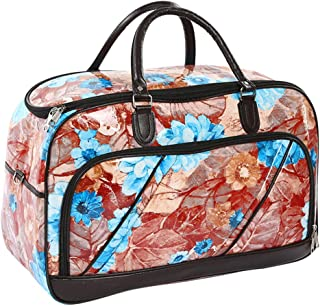 Printed Travel Bag Hand Luggage Weekender Overnight Camping Travel Bag - Womens PU Leather Waterproof Tote Zhhlaixing