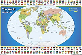 World For Kids, The, Poster Sized, Laminated: Wall Maps World