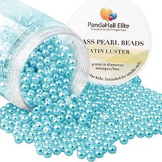 PH PandaHall Elite 4MM حوالي 1000 قطعة صغيرة الساتان بريق الزجاج لؤلؤة جولة الخرز مجموعة متنوعة لصنع المجوهرات مربع جولة ع...