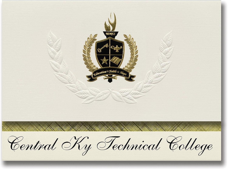 Signature-Announcements Central Central Central Ky Technical College (Lexington, KY) Abschlussankündigungen, Präsidential-Stil, Grundpaket mit 25 Goldfarbenen und schwarzen Metallfolienversiegelungen B0795WSK3W | Ausgang  6626c9